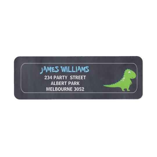 Étiquette de adresse de retour de Dinosuar de