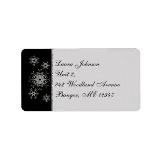Étiquette de adresse de retour de flocons de neige étiquettes d'adresse