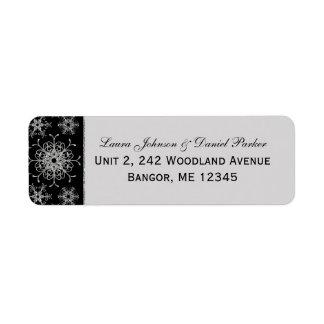 Étiquette de adresse de retour de flocons de neige étiquettes d'adresse retour