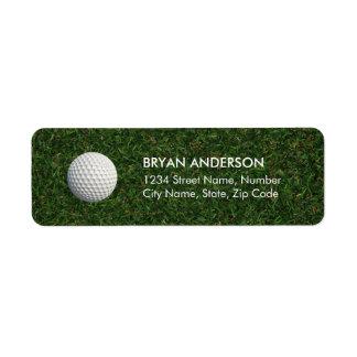 Étiquette de adresse de retour de golf