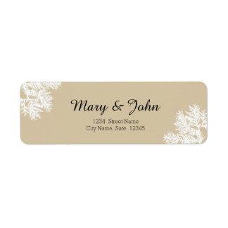 Étiquette de adresse de retour de mariage de