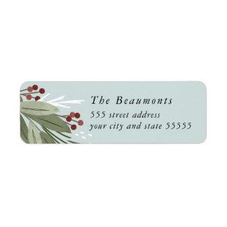 Étiquette de adresse de retour de Winterberry