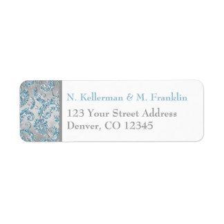 Étiquette de adresse de retour du pays des étiquettes d'adresse retour