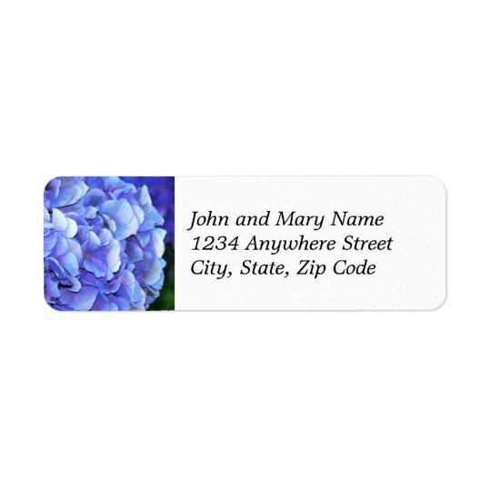 Étiquette de adresse de retour floral de fleur
