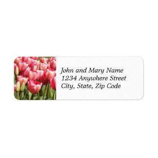 Étiquette de adresse de retour floral de jardin