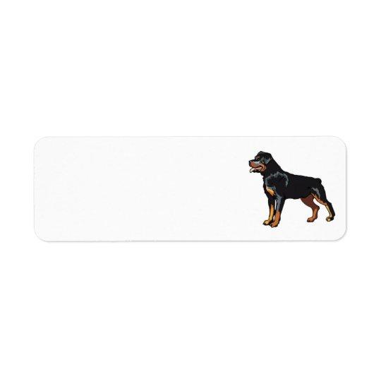 Étiquette de adresse de rottweiler