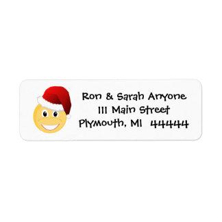 Étiquette de adresse d'Emoji Père Noël