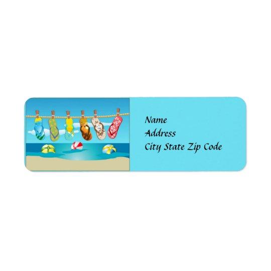 Étiquette de adresse d'été de bascules
