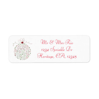Étiquette de adresse d'ornement de Noël