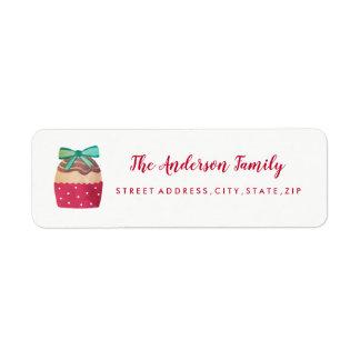 Étiquette de adresse doux de retour de Noël de