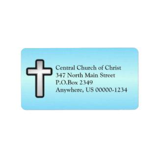 Étiquette de adresse fait sur commande croisé étiquette d'adresse