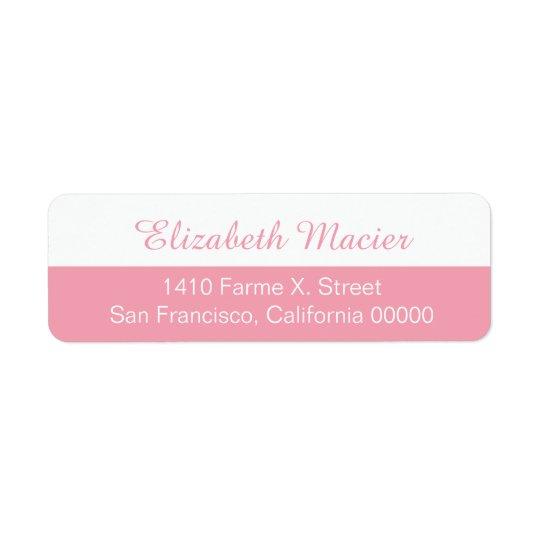 étiquette de adresse féminin à moitié rose avec
