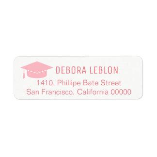 étiquette de adresse féminin de retour de rose