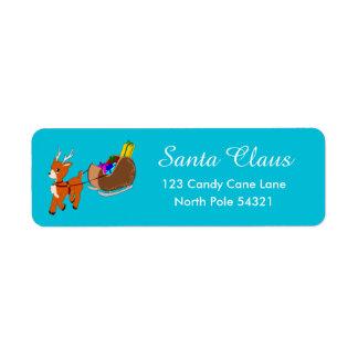 Étiquette de adresse mignon de retour de Noël de