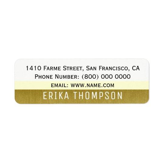 étiquette de adresse moderne de base simple avec