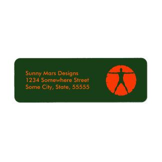 Étiquette de adresse personnel de retour étiquettes d'adresse retour