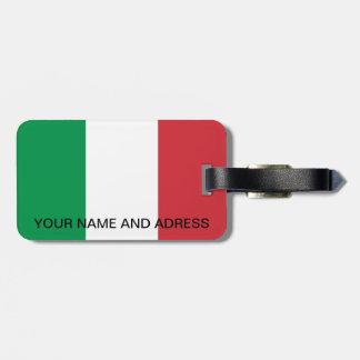 Étiquette de bagage avec le drapeau de l'Italie Étiquette À Bagage