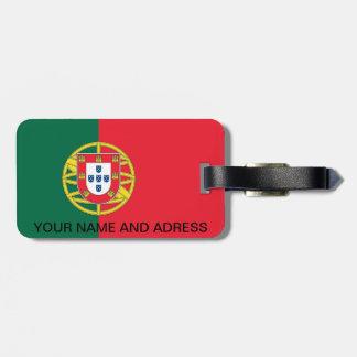 Étiquette de bagage avec le drapeau du Portugal Étiquettes Bagages