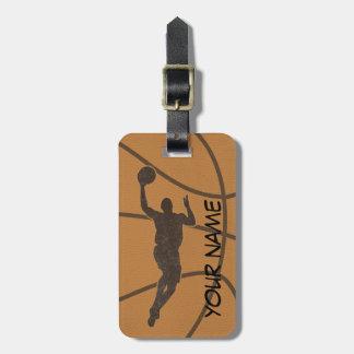 Étiquette de bagage de basket-ball étiquette à bagage