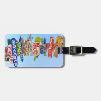 Étiquette de bagage de destination étiquette à bagage
