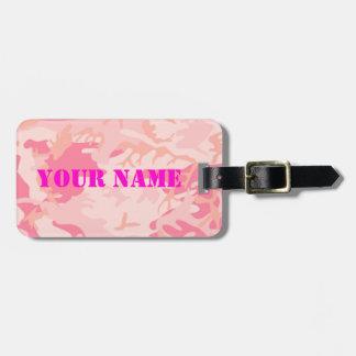 Étiquette de bagage de Madame Pink Camo Étiquette À Bagage