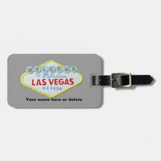 Étiquette de bagages de signe de Las Vegas Étiquettes Bagages