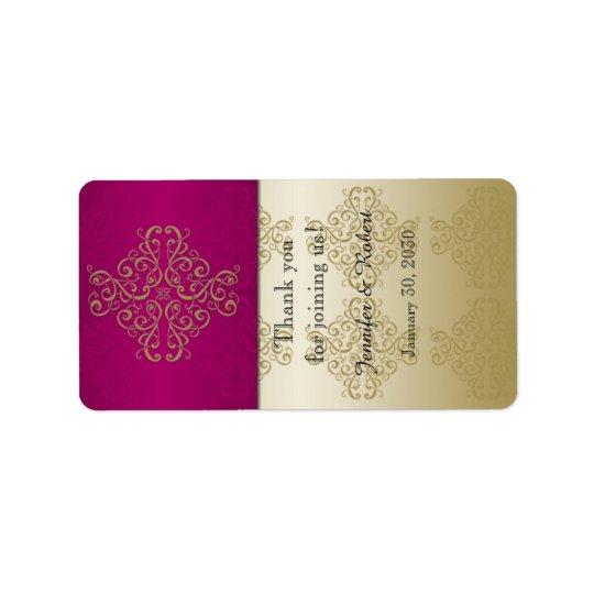 Étiquette de baume à lèvres d'or et de Bourgogne