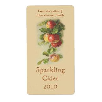 Étiquette de bouteille de vin d'Apple