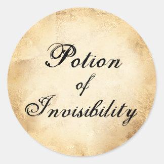 Étiquette de breuvage magique d'invisibilité