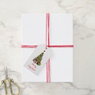 étiquette de cadeau d'arbre de Noël 2-Sided