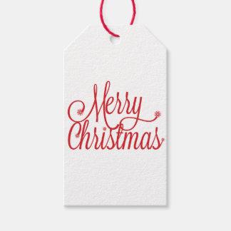 Étiquette de cadeau de Joyeux Noël