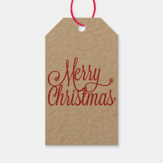 Étiquette de cadeau de Joyeux Noël (papier
