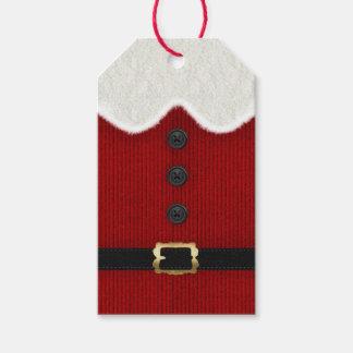 Étiquette de cadeau de Noël de Père Noël