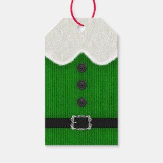 Étiquette de cadeau de Noël d'Elf