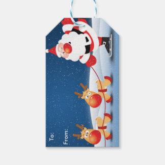Étiquette de cadeau de Père Noël