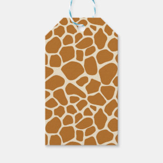 Étiquette de cadeau d'impression de girafe
