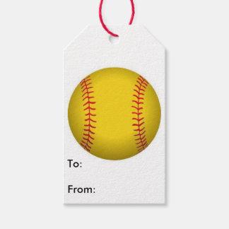 Étiquette de cadeau du base-ball