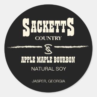 Étiquette de cercle de bougie de Sacketts