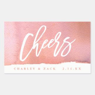 Sticker Rectangulaire Étiquette de Champagne de vin d'aquarelle de