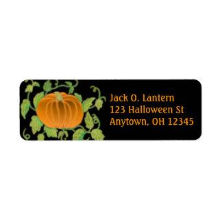 Étiquette de citrouille de Halloween