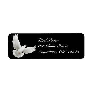 Étiquette de colombe de paix de vol