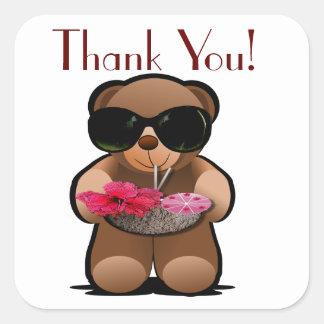 Étiquette de Merci d'ours de nounours