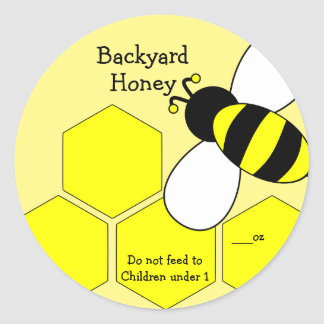 Étiquette de miel de jardin