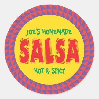 Étiquette de mise en boîte de pot de Salsa fait