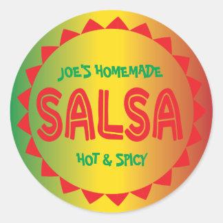 Étiquette de mise en boîte de Salsa fait maison