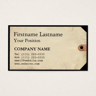 Étiquette de musée cartes de visite
