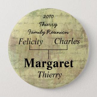 Étiquette de nom de la Réunion de famille Badge Rond 10 Cm