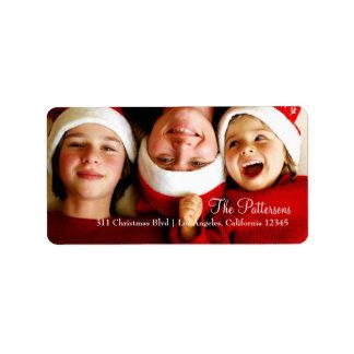 étiquette de photo de Noël 311-Customizable