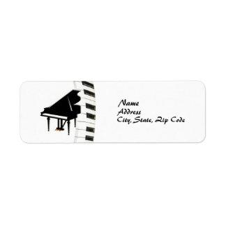 Étiquette de piano à queue de clavier