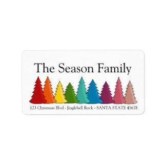 Étiquette de vacances d'arbres de Noël